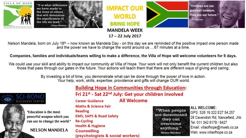 2017 MANDELA WEEK